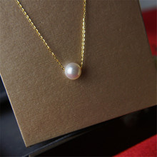 Hot sale imitation pearl of love gold color Pendant Necklaces Clavicle Chains Fashion Necklace Women Jewelry free delivery