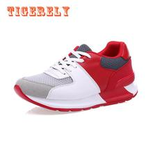 2017 New Women's Run Shoes Yellow and Red Air Mesh Athletic Breathable Sport Shoes Sneakers Running Shoes(271)