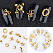 1Wheel Feather Nail Art Rivet Decals Gold Nail Studs Rhinestones 3D Nail Art Decorations Stickers Manicure Nails Accesories