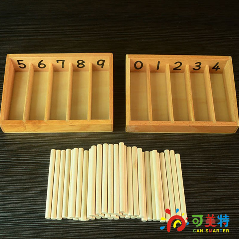 Montessori Materials Beech Wooden Spindle Box Family Pack Early Learning Education Toy  Free Shipping<br>