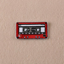 Size6.2*3.3CM The nostalgia Audio Tape Patches Iron On Embroidered Patch For Clothing Sticker Badge Paste For Clothes Bag Pants(China)