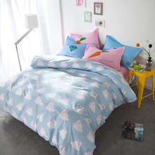 Cotton fabric rabbit quilt bedding sets 4/5pcs brief carrot masonry comforter duvet cover queen full size child bed linen sheet