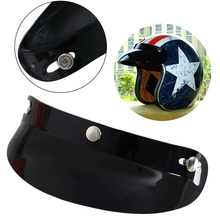 New Universal 3 Snap Visor Face Shield Lens For Motorcycle Helmets Open Face(China)