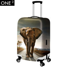 2015 newest design 3D animal luggage covers, elephant design suitcase cover for luggage, for 18/20/22/24/26/28inch luggage cover