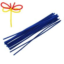 Terylene Chenille Stick Pipe Cleaner Craft DIY Making Christmas Royal Blue 30cm long,2 Bundles(About 100PCs/Bundle) 2015 new(China)