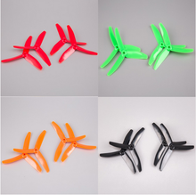 "2Pairs BeeRotor 5x4"" 3 Blades Propeller 5040 For Small Planes Multi-rotors Green Red Black Orange Color"