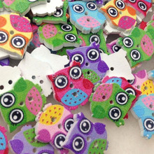 50pcs Mix Baby Owl Birds Carton Buttons Kid' Baby Sewing Craft Lots 17MM WB312