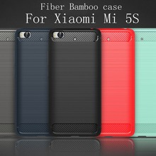 5 Color The Latest Carbon Fiber Bamboo Phone Cover Case For Xiaomi Mi 5S Mi5S Luxury Mobile Phone Bag Case