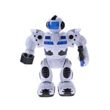 Electric Robot Toy Intelligent Flashing Light Electric Figures Kids Educational Toys for Children Birthday Christmas Gift(China)