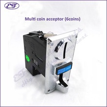 Free shipping multi coin acceptor programable for 6 different values coin selector for vending machine(China)
