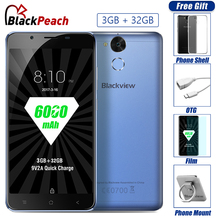 "Blackview P2 lite 4G Mobile Phone 5.5"" FHD MTK6753 Octa Core Android 7.0 3GB RAM 32GB ROM 13MP 6000mAh Fingerprint ID Smartphone"