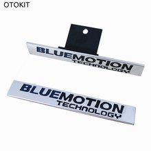 OTOKIT New Car Styling Metal Emblem BLUE MOTION TECHNOLOGY Sticker Tail Head Vehicle Car Styling for VW MAGOTAN CC Sagitar Golf