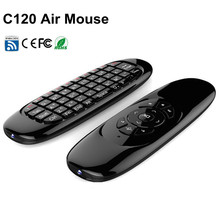 2.4GHz Wireless C120 Fly Air Mouse TV Box Keyboard Remote Controller with USB Receiver for Android Windows Mac OS Linux Smart TV