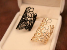 Free Shipping Openwork lace flower ring For Women Jewelry Hot goods fashion ring wholesale female(China)