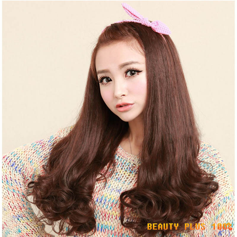 Free Shipping Brand New Female Long Afro Kinky Synthetic Wig 3/4 Wig Heat Resistance Half Wig Curly Blonde Wig Pad For Hair Bob<br><br>Aliexpress