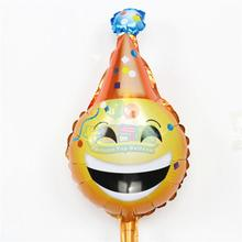 New style mini tricorn smile balloon 10pcs/lot air balls helium foil globo happy birthday wedding decor balls children toysMN073