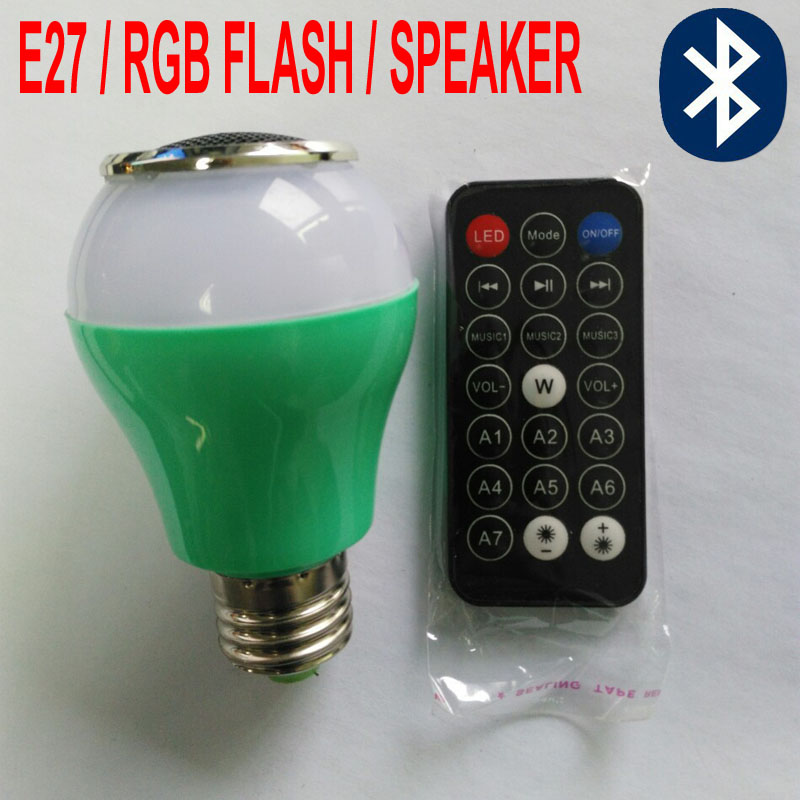 E27 Mini Mp3 Speaker Remote Bluetooth 110-240V Digital LED RGB Flash Crystal Magic Ball Effect Light Indoor Decoration LED Lamp<br><br>Aliexpress