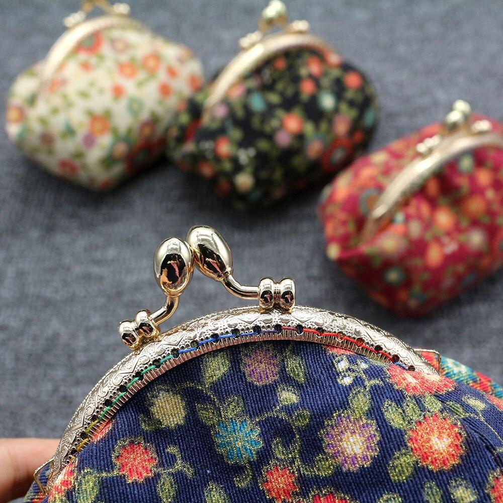 Mini Coin Purse Kiss Lock Girls  Change Purse Hasp Wallet women lady flower bags  (9)