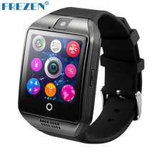 FREZEN Smart Watch F-Q18 Bluetooth Wristwatch Camera Smartwatch SIM TF Card For Android Phone PK DZ09 A1 GT08 U8