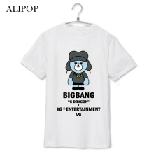 ALIPOP KPOP BIGBANG MADE Concert Bear Shirt Album Shirts K-POP Cotton Clothes Tshirt T Shirt Short Sleeve Tops T-shirt DX208