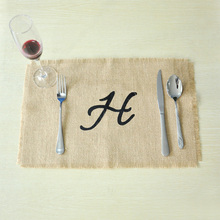 Burlap Placemats Monogram,Personalized Placemats,Wedding placemats,Custom Rustic Placemats,Rustic Dining Room Decor,Wedding gift
