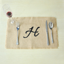 Burlap Placemats Monogram,Personalized Placemats,Wedding placemats,Custom Rustic Placemats,Rustic Dining Room Decor,Wedding gift(China)