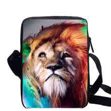 Multicolour Animal Print Shoulder Bag Peacock Cross Tiger Lion Cat Dog Cheetah Body Bag Kids Causul Travel Mini Messenger Bags(China)