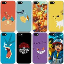 Best Pokemons Black Plastic Case Cover Shell for iPhone Apple 4 4s 5 5s SE 5c 6 6s 7 Plus(China)