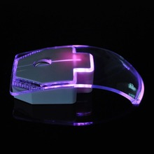 Transparent 1.3m Wired Mouse for Laptop Desktop Silent Gamer Colorful LED Power Saving Glow Gaming Mouse Mice Newest Fashion(China)