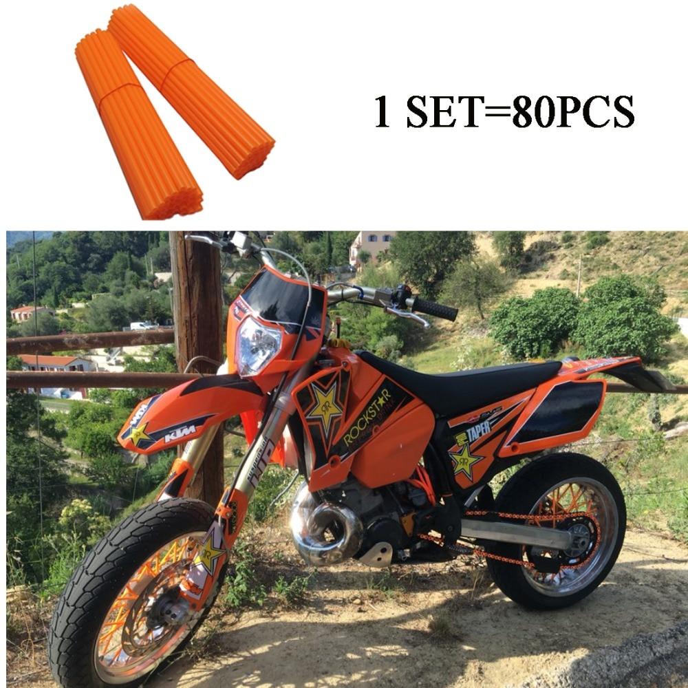 80pcs for kawasaki kx 250 Spoke Skins For KTM kawasaki kx 80 SPOKE COVER For HONDA CR 125 kawasaki kxf 250 KTM EXC 500 450<br><br>Aliexpress