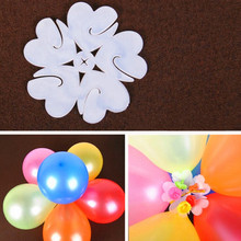 5pcs/lot 6 Balloons Seal Clip That Combine To Flower Shape Inflatable Latex Balloons Wedding Birthday Party Balloons Accessories