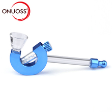 ONUOSS Water Pipe Portable Smoking Mini Glass Pipe Shisha Tobacco Smoking Pipes Blister Card Package Smoking Accessories 771