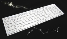 Super slim 2.4Ghz wireless keyboard with multimedia function support Windows, MAC and Android4.0 system with gift box