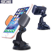STJIE universal desk phone holder sticky 360 degree rotating car stand for phone grip cellphone(China)