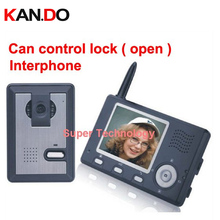 "can control lock (door),3 wall to work,wireless Video Door Phone,3.5""LCD,wireless doorbell,video door bell,video intercom system"