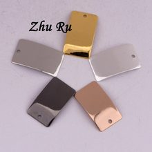 ZHU RU 20pcs lot 18 10mm Arched gable rectangle arc Gasket Spacers jewelry  findings 333a710bd4a7