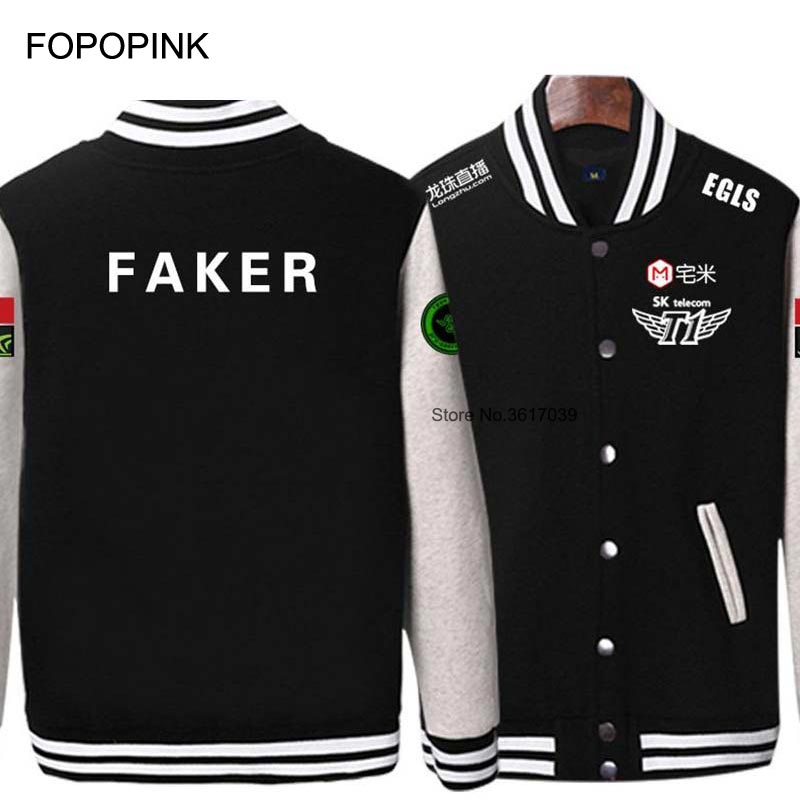 Skt T1 Hip Hop Hoodies Jackets Uniform Men Moleton Team Match Faker Sweatshirt Profit Wolf Lol Game Cosplay Sportwear Z40