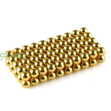 100pcs Super Magnet Golden N42 Grade Diameter 3mm Neodymium Magnet Rare Earth Strong Power Magnets For Industry OMO Magnetics(China)