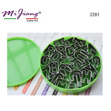 Stainless Steel Metal Fondant Cutter Alphabet letter cake molds Sugar Paste Cookie Cutters Biscuit Cake Decorating Tools 3281(China)
