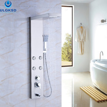 Ulgksd Wholesale and Retail Shower Panel Shower Column Jets Tub Hand Shower Set  Bathroom Waterfall Rain With Massage Tub Spout
