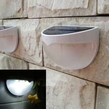 6 LED Garden Light Solar led Panel Lamp Sensor Waterproof mounted Outdoor Fence Wall Lamp Lighting Cool white