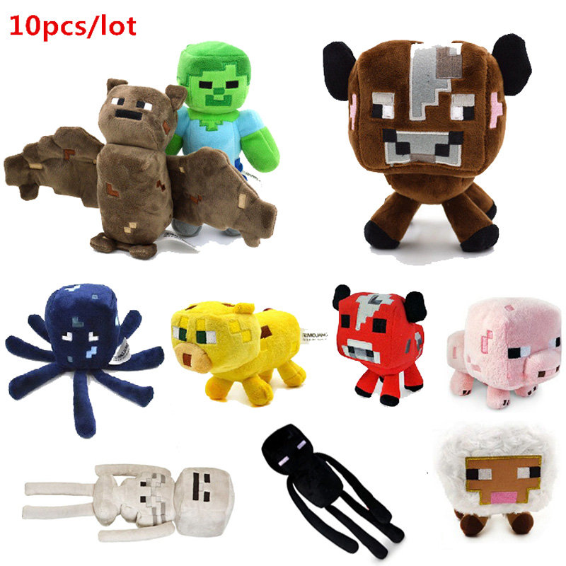 10pcs/lot Minecraft plush toy Brinquedos Game Toys Cheapest Sale High Quality Plush Toys Cartoon Game Toys Creeper Free Shipping<br>