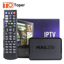 Mag250 Linux System IPTV Set Top Box HD 1080p IPTV Receiver With Europe Arabic Iptv Account UK DE Italy Potugal Indian