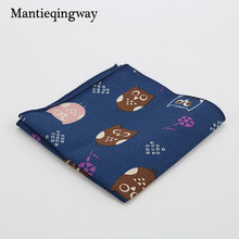 Mantieqingway High Quality Men's Cotton Handkerchieves Navy Blue Floral Handmade Pocket Square Men Suit Geometric Pocket Square