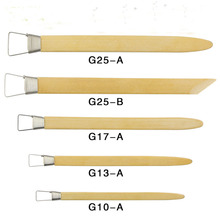 5pcs bamboo Handmade Sculpture Fimo Utility Knife Carved Clay Carving Supplies Diy Crafts Ceramics Tools