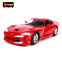 Bburago alloy car models 1:24 original  Dodge Viper GTS car simulation model Collection Lovers Diecast luxurious Toys Gifts