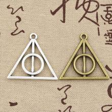 Buy 8pcs Charms Deathly Hallows 32mm Antique charms,pendant fit,Vintage Tibetan Silver Bronze,DIY bracelet necklace for $1.94 in AliExpress store