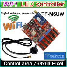 TF-M6UW wifi led Controller Card, p10 *** module Single&Dual color led signs, conventional p10 LED display control card(China)