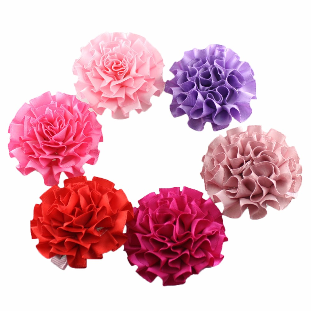 6pcs /lot  Boutique Baby Girl Flower hair clips kids hairpins lovely kids hair accessories<br><br>Aliexpress