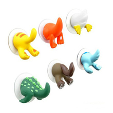 6Pcs/set Cute Cartoon Animal Tail Hooks Sucker Type Bathroom Towel Jewlry Wall Hook Key Hanger Hooks For Hanging Home Decoration(China)